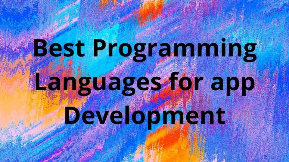 Programming Languages for app Development (1)